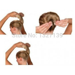 Hot Fashion Hair Elegant Magic Style Bun Maker Buns (1 large 1 small) 3 Colors