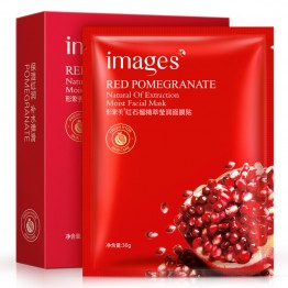 Images Red pomegranate mask face mask plant extract hydrating deep moisturizing&whitening facial massage mask skin care mask