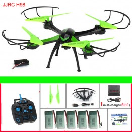 JJRC H98 RC Quadcopter Drone with HD Camera Headless Mode/One key to return with LED Light helicopter Drone or no camera