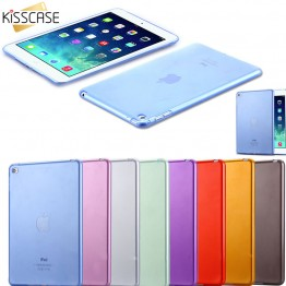 KISSCASE Fashion Slim Crystal Clear Protective Case For iPad Mini 4 Slim Thin Soft TPU Tablets Accessories Cover For iPad Mini 4