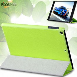 KISSCASE Three Fold Stand Leather Flip Case For iPad mini 1 2 3 Protective Shell Tablets Accessories Full Protective Cover