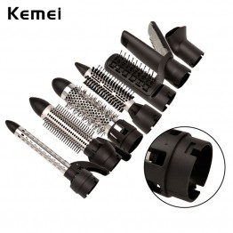 Kemei Brand New Multifunctional Hair Dryer Professional Blow Dryer Hot and Cold Wind Hair Curler Brush sets Styling tools