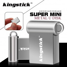 Kingstick super mini 32GB pendrive metal style USB flash drive 4gb 8gb 16GB 64gb pen drive USB2.0 memory stick U Disk gift