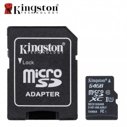 Kingston Micro SD Card Memory Card with Adapter 8GB 16GB 32GB 64GB Class 10 Microsd Memoria SDHC SDXC TF SD Card For Smartphone
