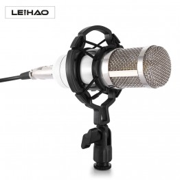 LEIHAO BM - 800 Dynamic Condenser Wired Microphone Mic Sound Studio for Singing Recording Kit KTV Karaoke with Shock Mount