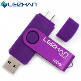 LEIZHAN 6Colors Promotion The OTG Phone USB Flash Drive Universal Smart Phone OTG USB Pen Pendrives 4gb 8gb 16gb 32gb 64g U Disk