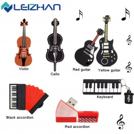 LEIZHAN USB Flash Drive Musical Instrument Gift USB Flash Drive 4GB 8GB 16GB 32GB 64GB Pendrive USB 2.0 Pen Drive Memory Stick
