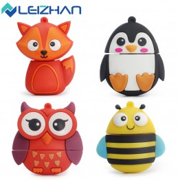 LEIZHAN usb flash drive cute Animal pen drive external storage usb pendrive 4GB 8g 16g 32g 64g Flash Card memory stick usb stick