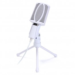 LEORY Rotatable 3.5mm Condenser Microphone Mic Recording Stand For PC Laptop Desktop Computers Microphone With Holder