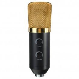 LEORY USB Microphone Condenser Kit Sound Studio Recording Wired Microphone Mic With Stand Mount For Braodcasting KTV Karaoke