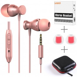 Lastkings Professional In-Ear wired Earphone for phone with Mic Microphone 3.5mm jack standard stereo headset Magnetic