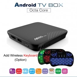 MECOOL M8S PRO Android 7.1 Smart TV Box Amlogic S912 Octa Core 3G 16G Set Top Box Bluetooth 4.1 2.4GHz / 5GHz WiFi Media Player