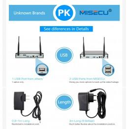 MISECU New plug&play 720P 1080P VGA/HDMI 4CH HD NVR wifi KIT Wireless nvr 30-50m signal P2P 720p WIFI IP Camera Waterproof CCTV