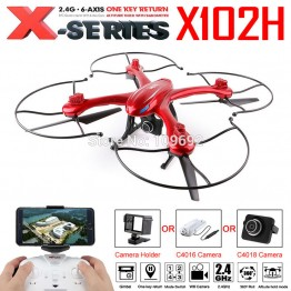 MJX X102H RC Drone Quadcopter Profession Gimble Can Add C4018 WIFI FPV Gopro Sjcam Xiaomi HD Camera RC Helicopter One Key Return