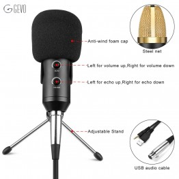 MK-F100TL New Usb Desktop Microphone Professional Condenser Microphone Stand With Tripod For Computer Pc karaoke Video Recording