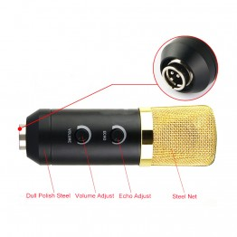 MK-F100TL USB Condenser Microphone Professional Microphone for Video Recording Karaoke Radio Studio Microphone for Computer PC