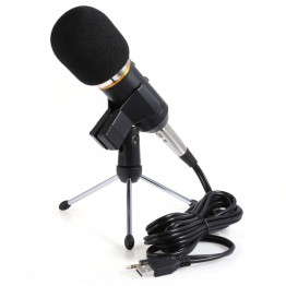 MK-F200FL Professional USB Microphone Condenser Desktop Computer Microphone Stand Stereo Wired 3.5mm Tripod For Recording Studio