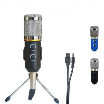MK-F200TL Professional Microphone USB Condenser Microphone for Video Recording Karaoke Radio Studio Microphone for PC Computer