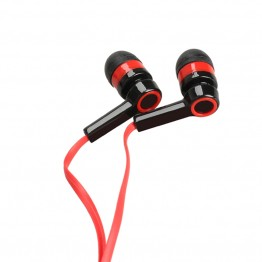 MOONBIFFY High Quality 3.5mm Earphone Symmetric Compact Flat Cable Headset For PC For Mobile Phone Iphone Samsung