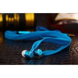 MOONBIFFY Metal Shoelace Earphone Heavy Bass Headset Noise Canceling Earbuds for Mobile Phone iPhone PC Hi-fidelity Soun