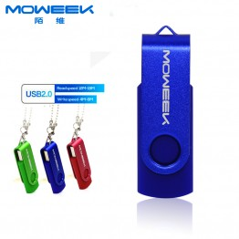 MOWEEK M06 2016 Hot Sale Stock Rectangle Pendrive Usb 2.0 stick 4/8/16/32/64Gb Fashion Rotate Usb Flash Drive Real Capacity Gift