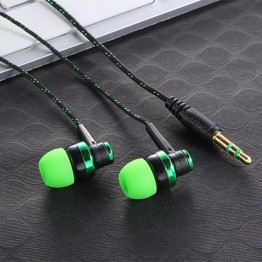 MP3 MP4 Wiring Subwoofer Headset Rope Earplug Noise Lsolating Earphone Ear Braided Rope Wire Cloth Built-in Mic Handfree