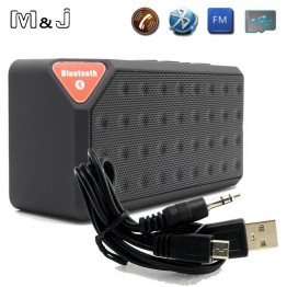 M&J Mini Bluetooth Speaker X3 TF USB FM Radio Wireless Portable Music Sound Box Subwoofer Loudspeakers With Mic For Phone PC