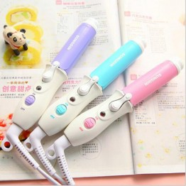 Mini Portable Tourmaline Ceramic Hair Curler Short Hair Perm Hair Curling Wand Hair Styler Curls Tools