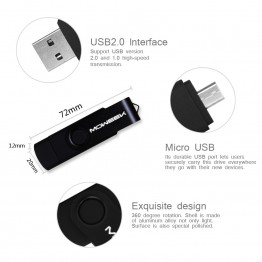 Moweek M32 USB Flash Drive 8gb 16gb 32gb 64gb otg Pen drive cle usb 2.0 Memory stick 4gb pendrive for Android smartphone U disk
