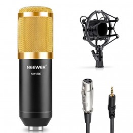 Neewer  NW-800 Professional Studio Microphone Set:Mic+Mic Shock Mount+Anti-wind Cap+Mic Power Cable for Recording KTV Karaoke
