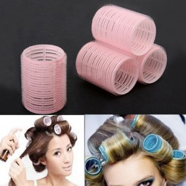 New Portable 6pcs/set Grip Cling Hair Styling Roller Curler Hairdressing DIY Tool 7 Sizes 5GVU