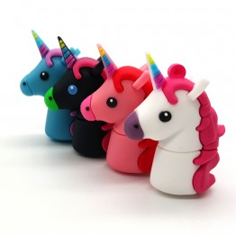 New Style Cartoon Unicorn USB Flash Drives Real Capacity Horse Pen Drive 4GB 8GB 16GB 32GB 64GB Minions Memory Stick Pendrives