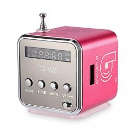 Newest TD-V26 Mini Speaker Portable Digital LCD Sound Micro SD/TF FM Radio Music Stereo Loudspeaker for Laptop Mobile Phone MP3