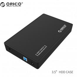 """ORICO 3.5 HDD Enclosure 3.5-inch SATA External Hard Drive Enclosure, USB 3.0  Tool Free  for 3.5"""" SATA HDD and SSD"""