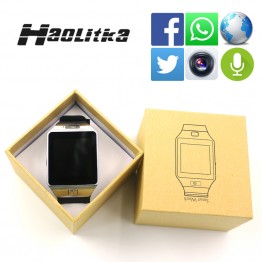 Original DZ09 Bluetooth smart watch SIM/TF Card For Ios Android Phones with camera facebook Pedometer men women sport wristwatch