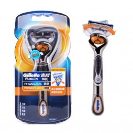 Original Gillette Fusion Proglide Flexball Power Electric Shaving Razor Blades 1 Handle + 1 Blade For Men Shaver
