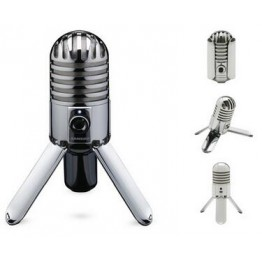 Original Samson Meteor Mic Studio Recording Condenser Microphone Fold-back Leg with USB Cable Carrying Bag for computer