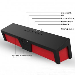 Outdoors Bluetooth Speaker LED Soundbar Portable Wireless Loudspeaker FM radio subwoofer column With USB For Computer Phone