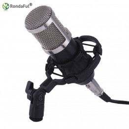 Professional BM800 Microfone 3.5mm Wired Condenser Sound Recording karaoke Microphone with Shock Mount for PC Song Recording