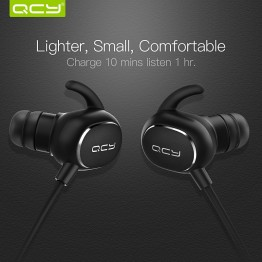 QCY IPX4-rated sweatproof headphones bluetooth V4.1 wireless sports earphones aptx 3d stereo headset with MIC