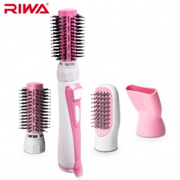 RIWA Multifunction Stying Tools 3 in 1 Hair Dryer Women Hairdressing Brush With Comb Nozzles Attachments Blower RC-7502