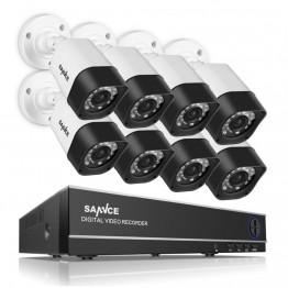 SANNCE 8CH CCTV System 720P HDMI AHD CCTV DVR 8PCS 1.0 MP IR Outdoor Security Camera 1200 TVL Camera Surveillance System