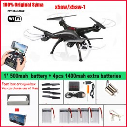 SYMA X5SW/x5sw-1 WIFI RC Drone fpv Quadcopter with Camera HD Headless 2.4G 6-Axis Real Time RC Helicopter Quad copter Toys