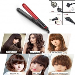 Sale LCD Display 2-in-1 Ceramic  Hair Straightener Curler Hair Curler Curling Iron Hair Ceramic Straightening Comb Freeshipping