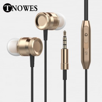Stereo HeadPhone In Ear Earphone Metal Handsfree Headset with Mic 3.5mm Earbuds For All Phone MP3 Player32699122294