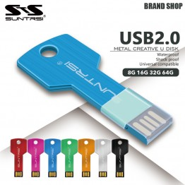 Suntrsi USB Flash Drive 64GB Metal Key Pendrive 64GB Waterproof Pen Drive USB 2.0 USB Stick Memory Stick USB Flash Custom Metal
