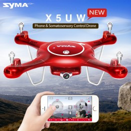 Syma X5uw Drone With Wifi Camera Hd 720p Real-time Transmission Fpv Quadcopter 2.4g 4ch X5uc Rc Helicopter Dron Quadrocopter Con
