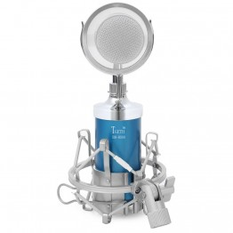 TGETH BM-8000 Sound Studio Recording Condenser Wired Microphone With 3.5mm Plug Stand Holder Pop Filter For KTV Karaoke