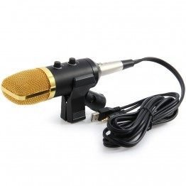 TGETH MK-F100TL USB Condenser Sound Recording Microphone with Stand for Radio Braodcasting Chatting Singing Skype KTV Karaoke