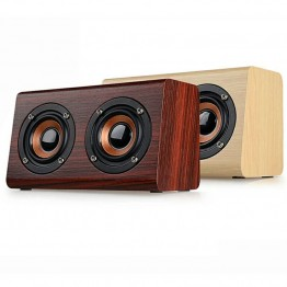 Thinyou Wooden Wireless Bluetooth Speaker Portable Mini 3D HiFi Dual Music box Loudspeakers USB Speakers handsfree TF AUX